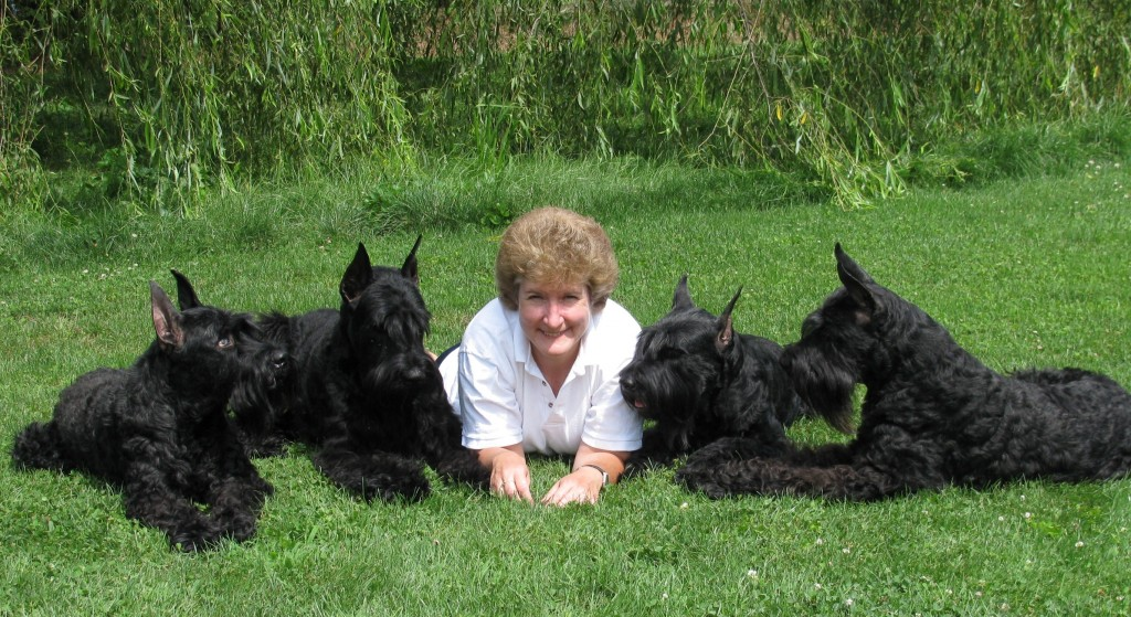 Valli and her dogs