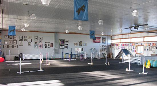Inside Training Building